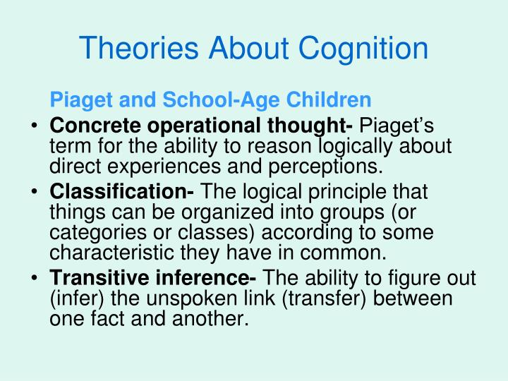 Theories About Cognition