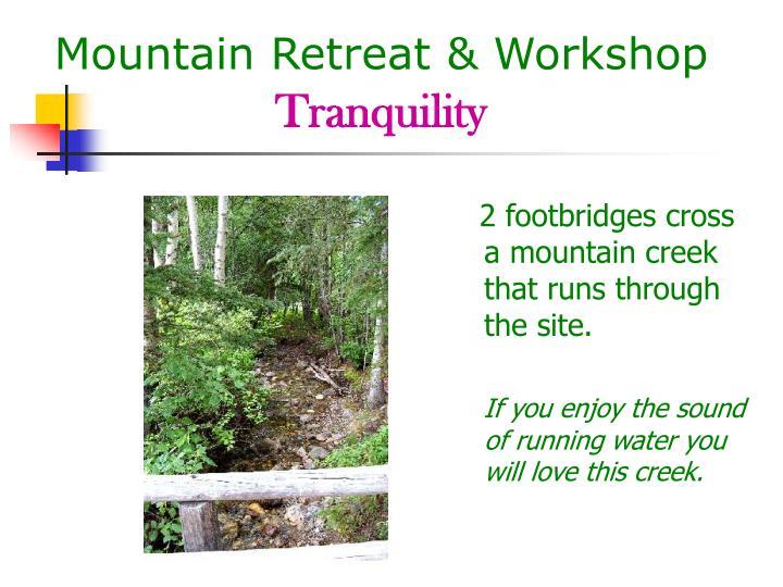 Mountain Retreat & Workshop