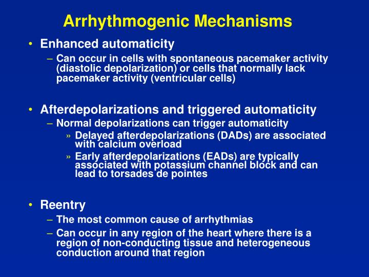 Arrhythmogenic Mechanisms