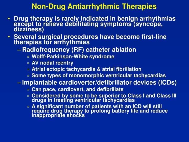 Non-Drug Antiarrhythmic Therapies