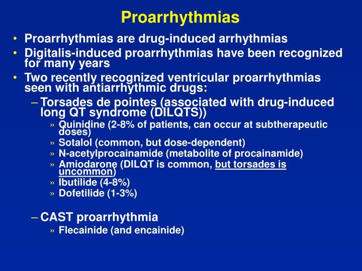 Proarrhythmias