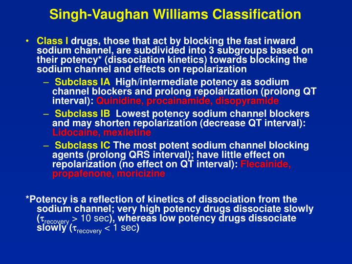 Singh-Vaughan Williams Classification