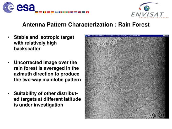 Antenna Pattern Characterization : Rain Forest