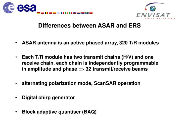 Differences between asar and ers