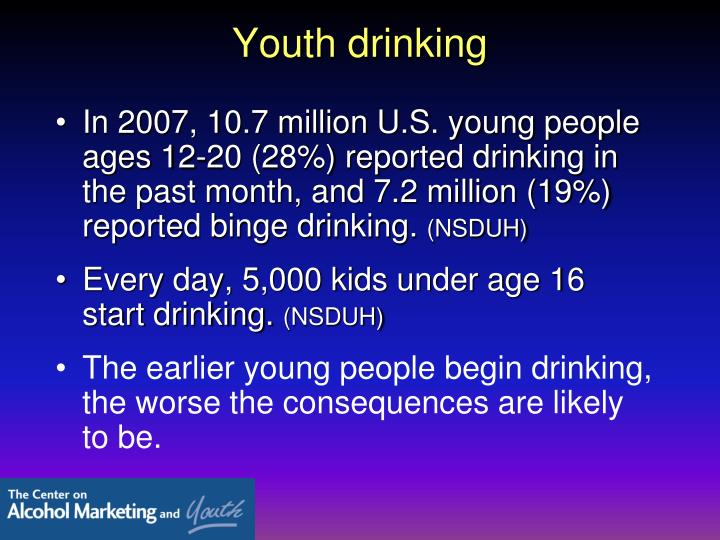 Youth drinking