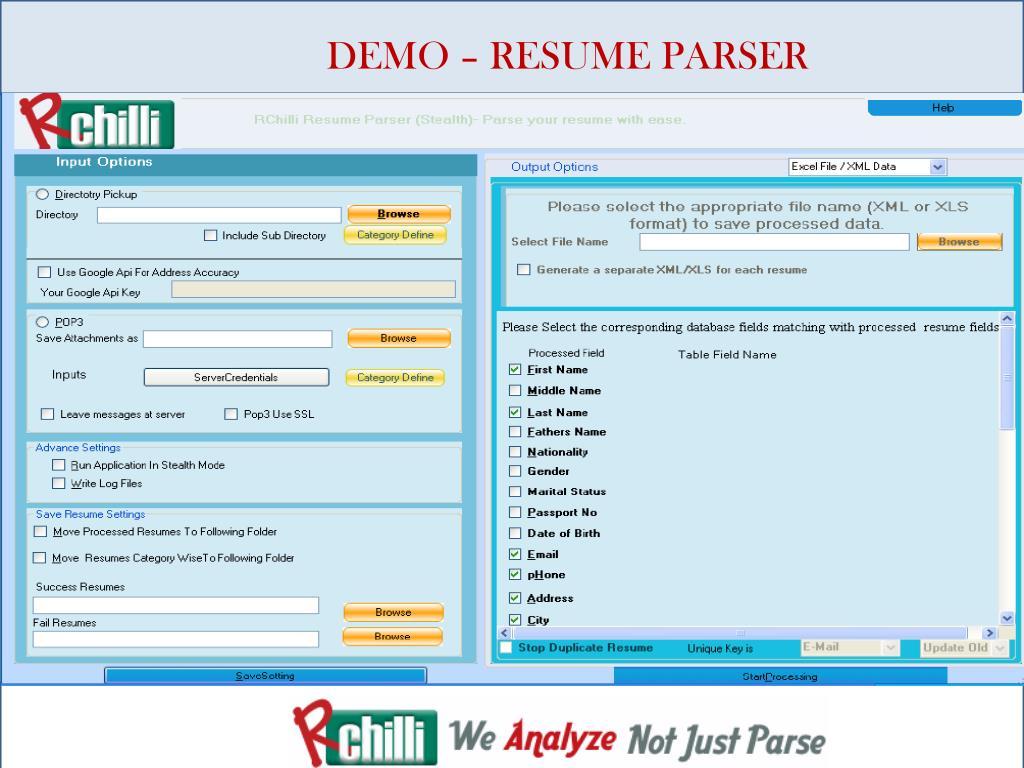 Resume parsing demo
