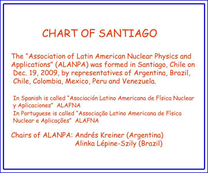 CHART OF SANTIAGO