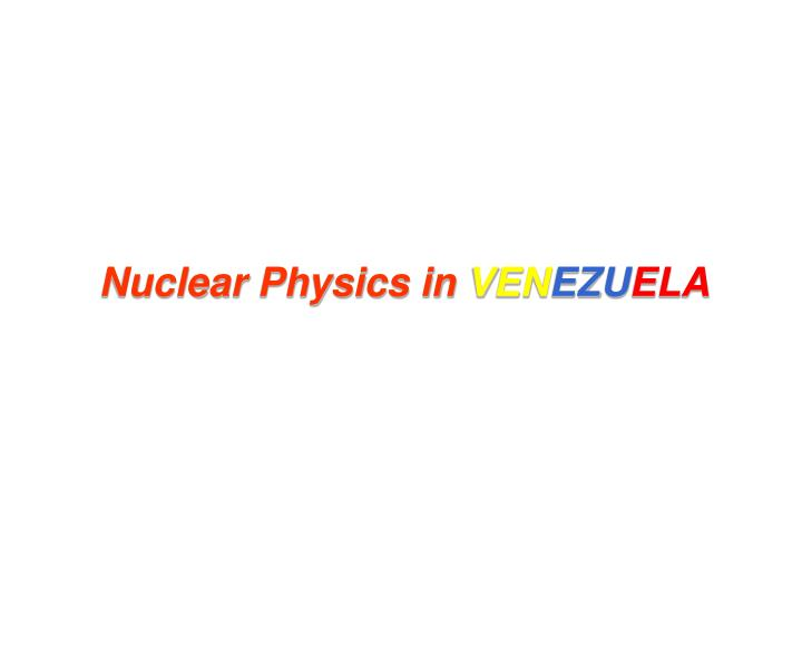 Nuclear Physics in