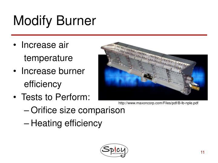 Modify Burner