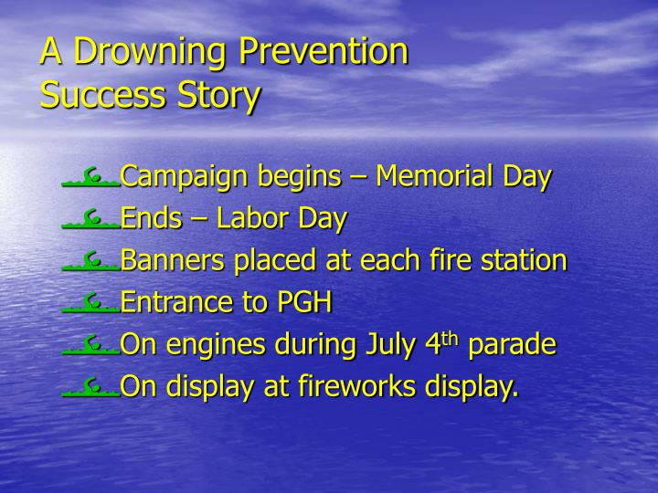 A Drowning Prevention