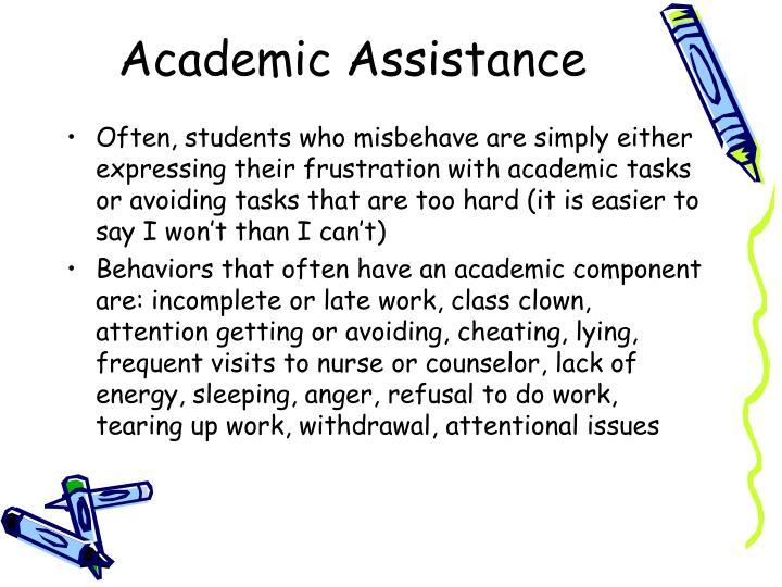Academic Assistance