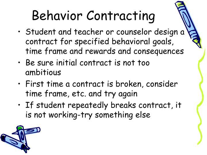 Behavior Contracting