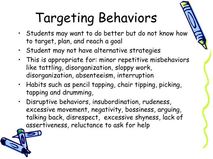 Targeting Behaviors