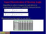 input discretization of steering angle
