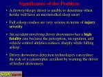 significance of the problem1