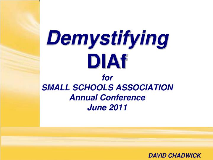 for small schools association annual conference june 2011 n.