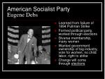 american socialist party eugene debs