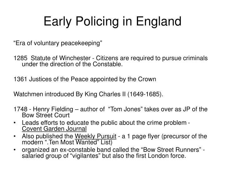 Early policing in england