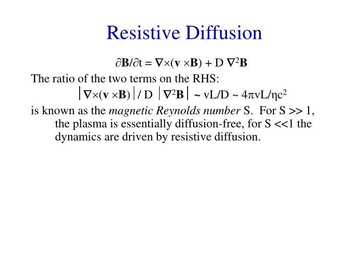 Resistive Diffusion