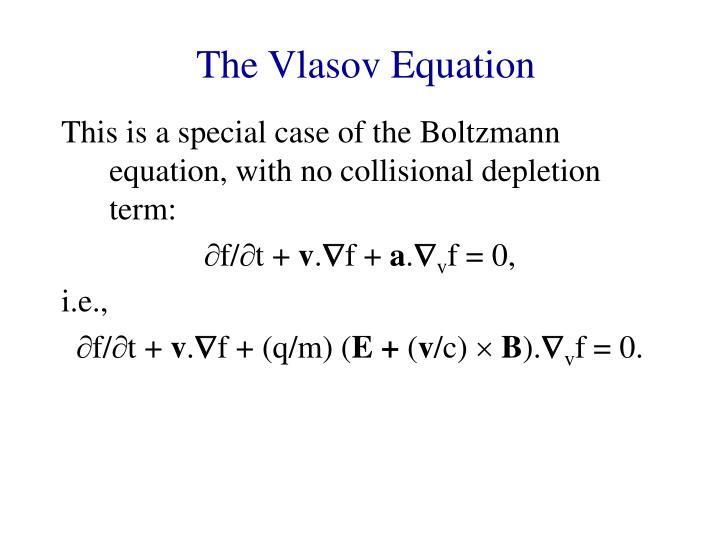 The Vlasov Equation