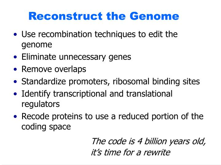 Reconstruct the Genome