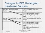 changes in ece undergrad hardware courses