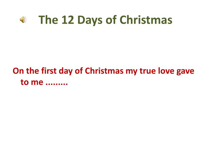 the 12 days of christmas n.