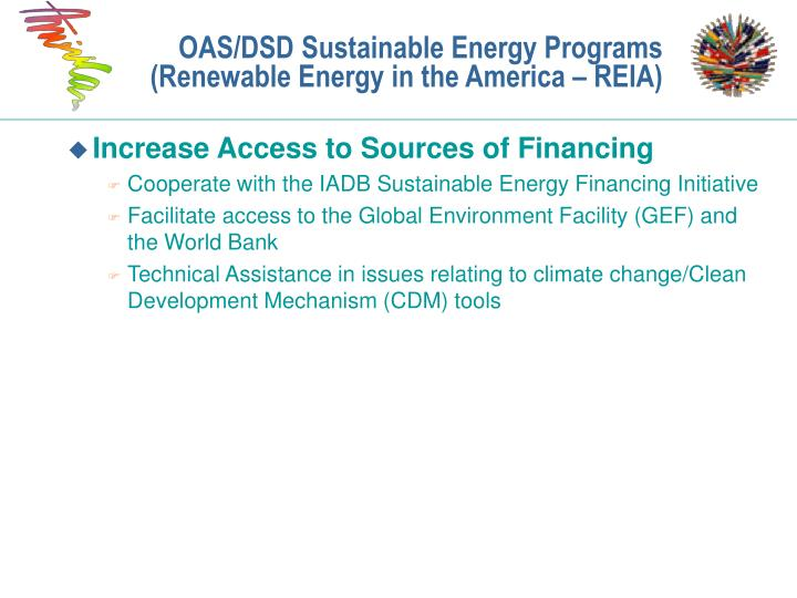 OAS/DSD Sustainable Energy Programs