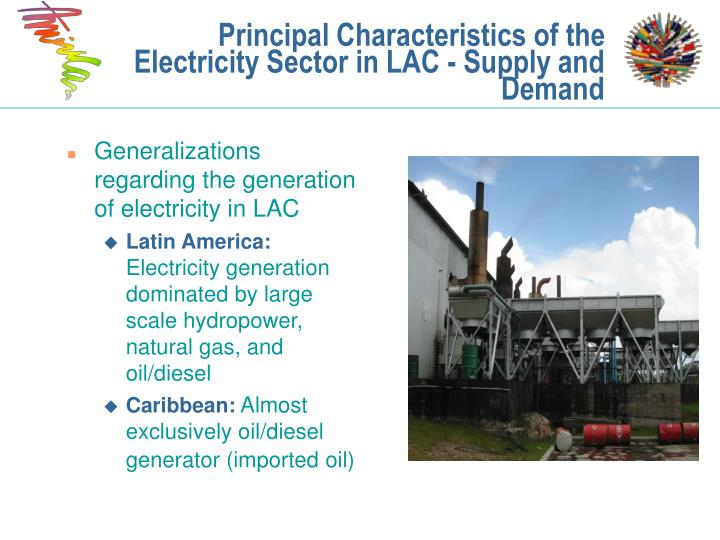 Generalizations regarding the generation of electricity in LAC