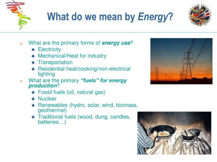 What do we mean by energy