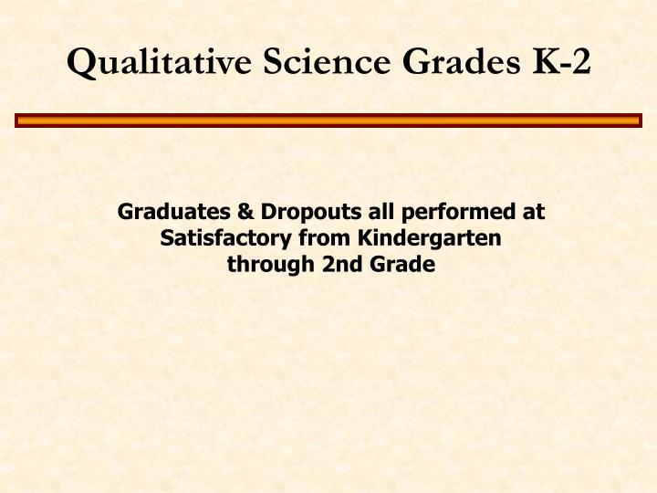 Qualitative Science Grades K-2