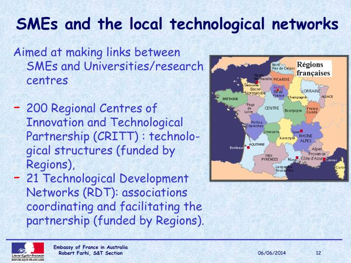 SMEs and the local technological networks