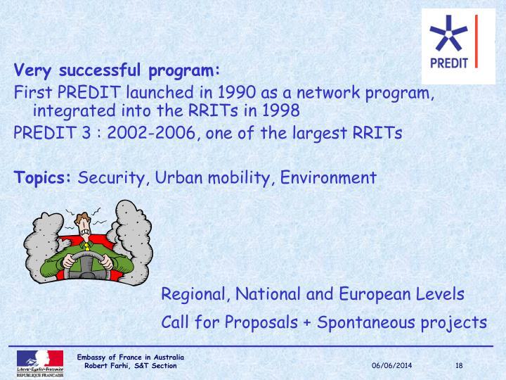 Very successful program: