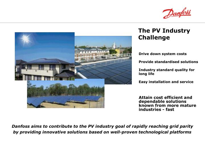 The PV Industry Challenge