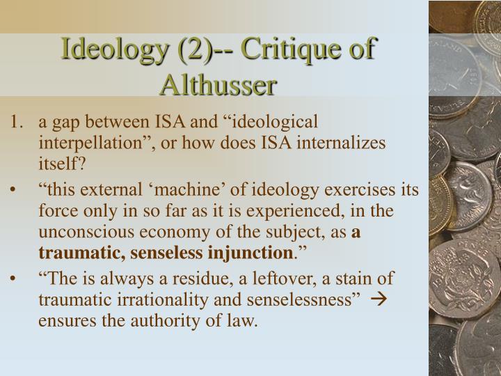 Ideology (2)-- Critique of Althusser