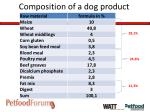 composition of a dog product