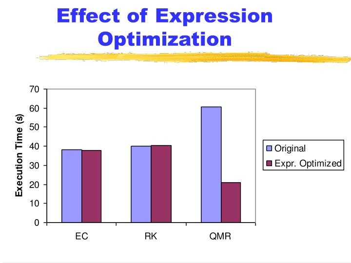 Effect of Expression Optimization