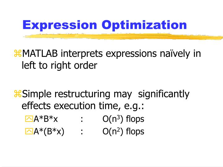 Expression Optimization