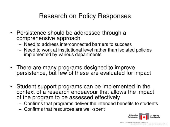 Research on Policy Responses