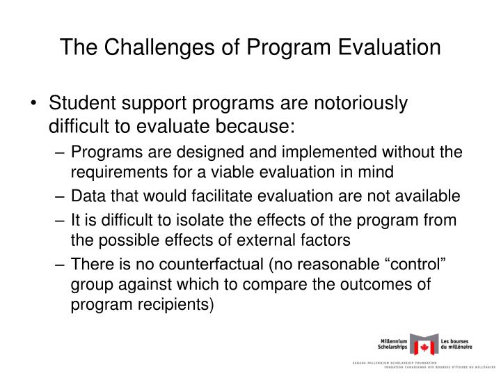 The Challenges of Program Evaluation