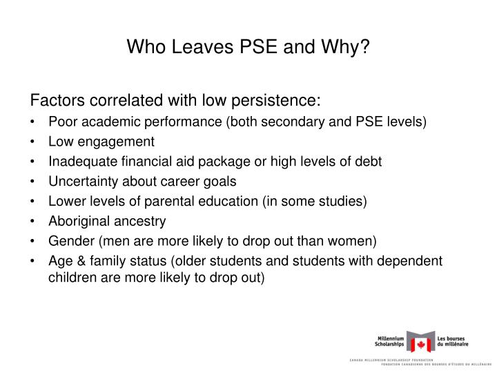 Who Leaves PSE and Why?