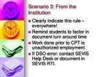 scenario 3 from the institution