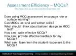 assessment efficiency mcqs http www ukcle ac uk resources trns mcqs index html2
