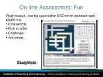 on line assessment fun
