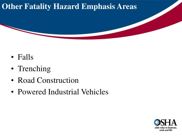 Other Fatality Hazard Emphasis Areas