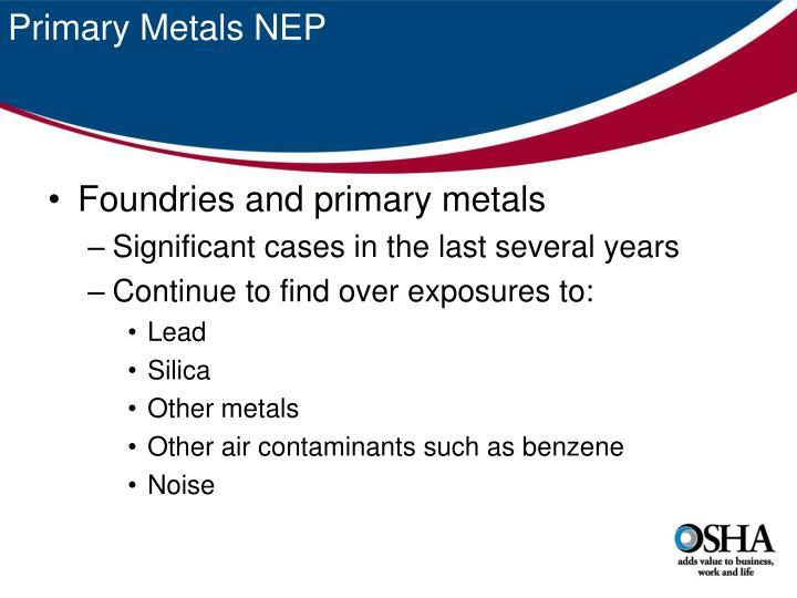 Primary Metals NEP