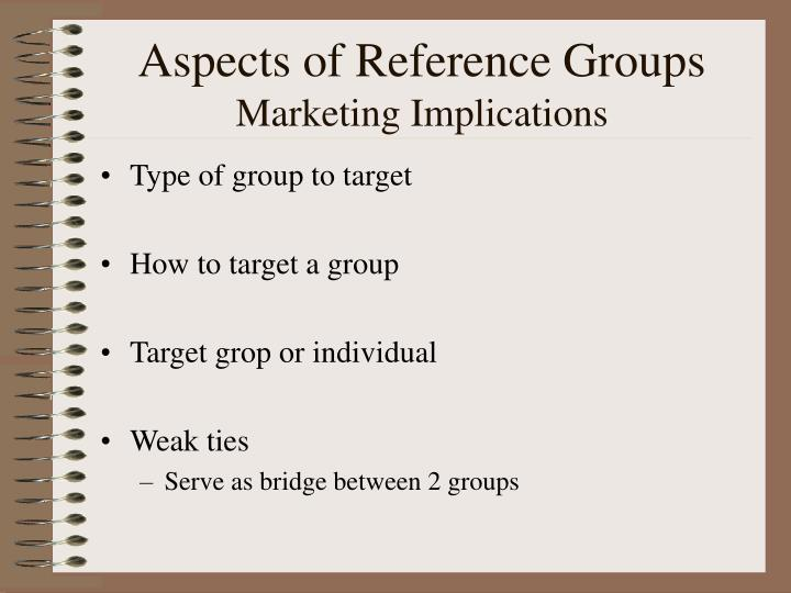 Aspects of Reference Groups