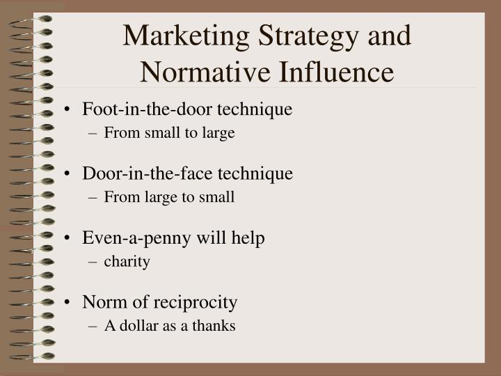 Marketing Strategy and Normative Influence