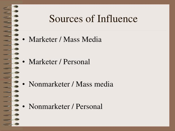 Sources of Influence