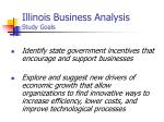 illinois business analysis study goals